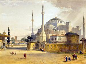 Hagia Sophia mosque, Istanbul, 1800s