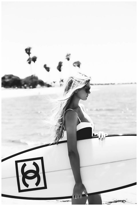 Chanel Surf Board ,Surf Wall Art - PDFDecor