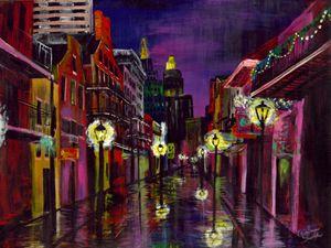 TWILIGHT STREET Original Painting