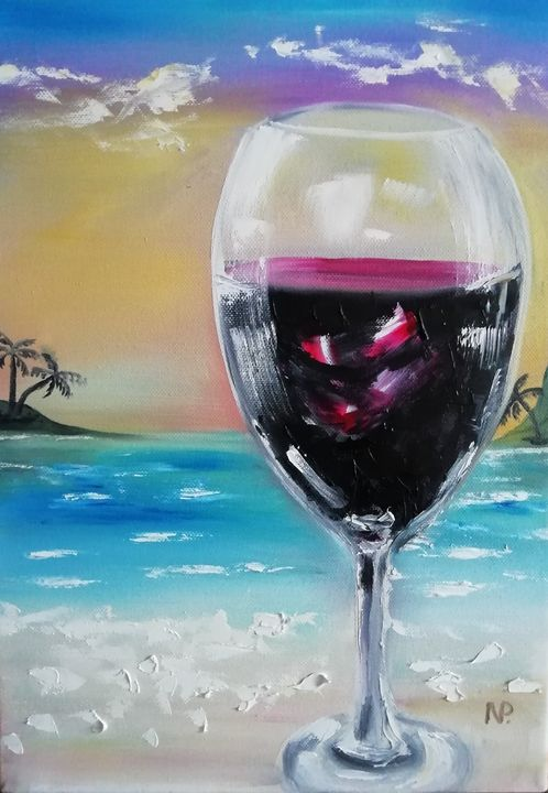Sunset with wine - ArtPlakhotnyk