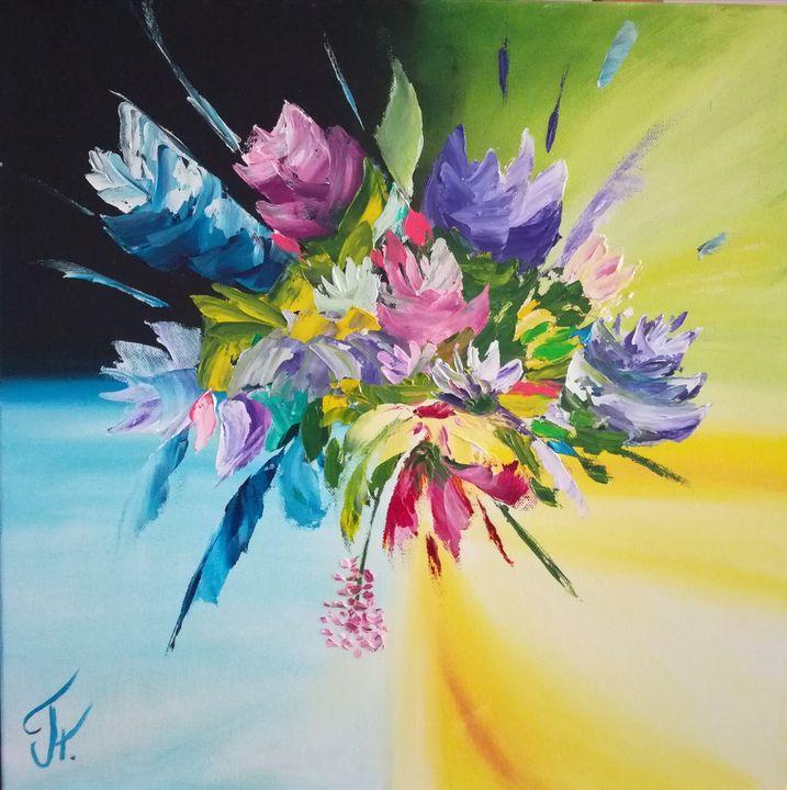 Summer, original oil painting - ArtPlakhotnyk