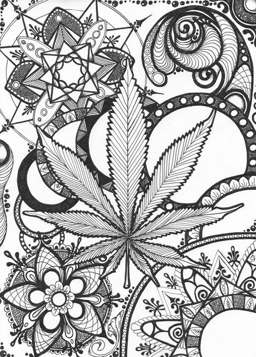 Marijuana Mandala Laura Bridges Paintings Amp Prints