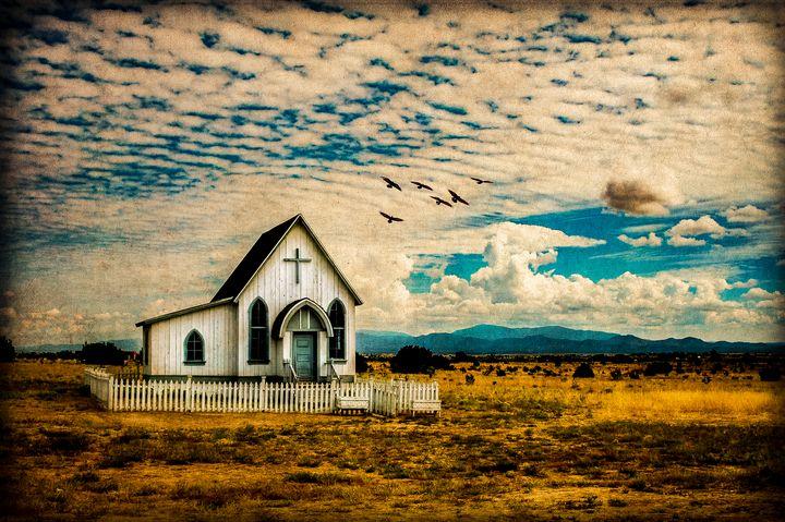 A Lone Prairie Church - Lou Novick