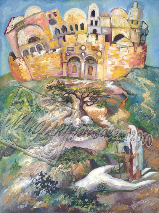 The Way To Jerusalem - Natalia's Rogov Fine Art