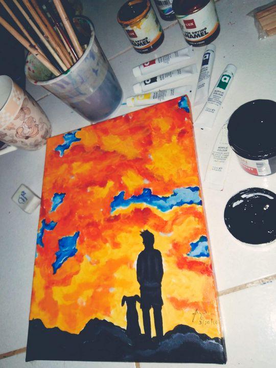 """""""under the fiery sky"""" - Arnel's artwork"""