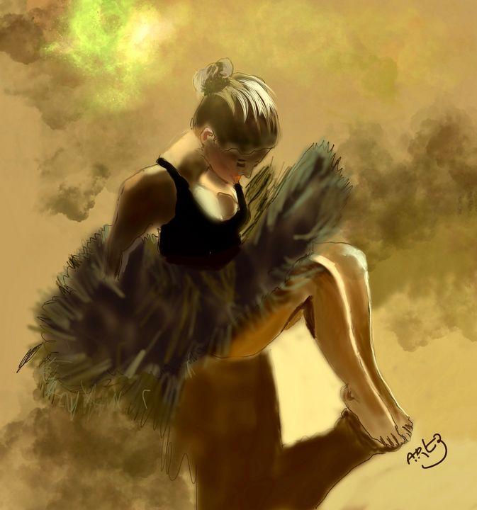 Sitting Ballerina - Artz For Artz Sake