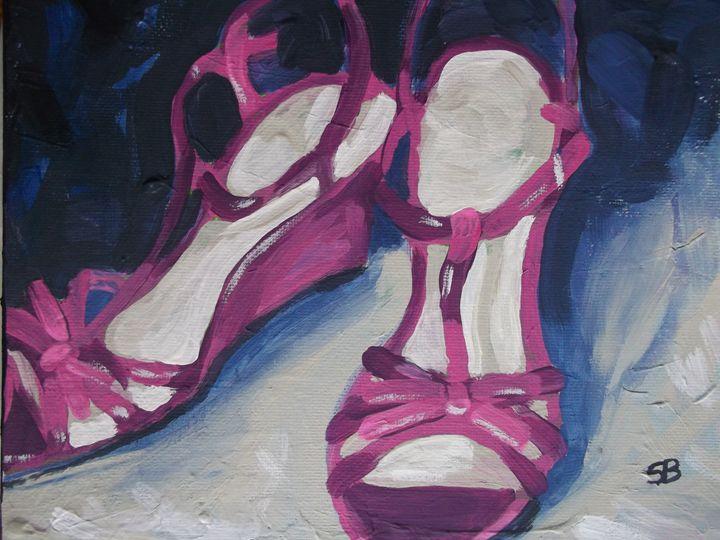 Pink High Heels - Samantha Black