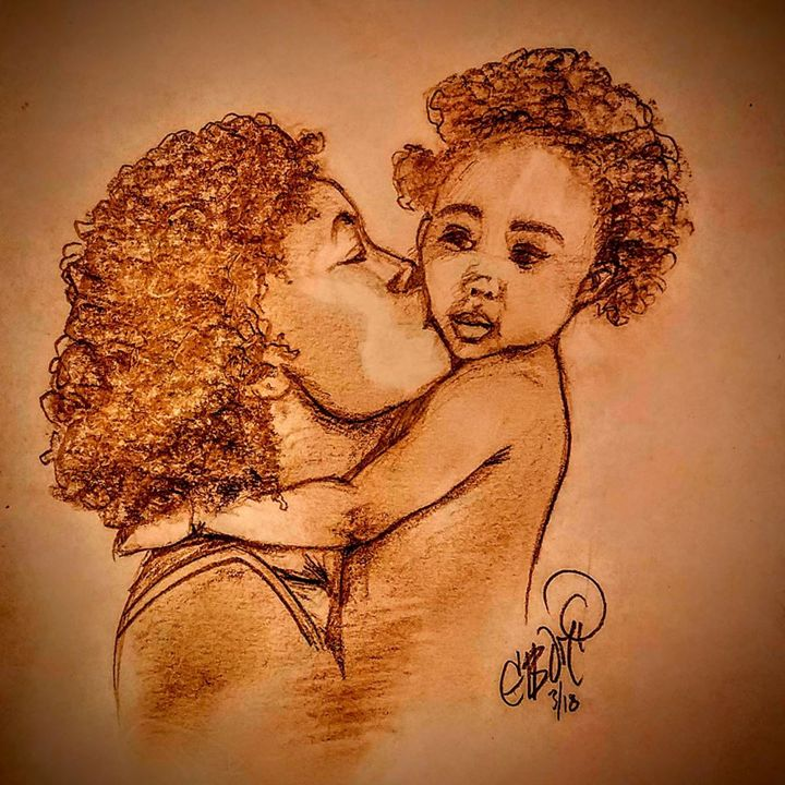 Mother and Baby Kisses - Eboni Lobley Artistry