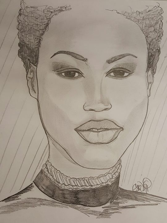 Model in Black - Eboni Lobley Artistry
