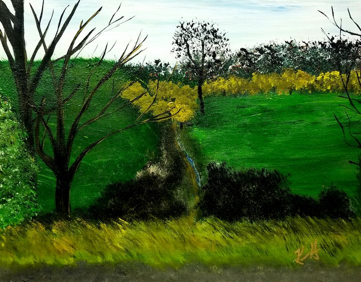 Two Pastures and a Creek - The AM Art Gallery