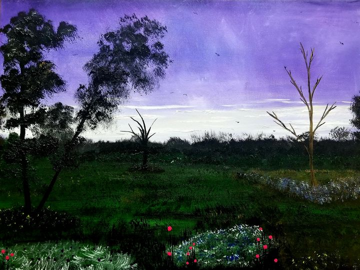 Flowers at Sunset - The AM Art Gallery