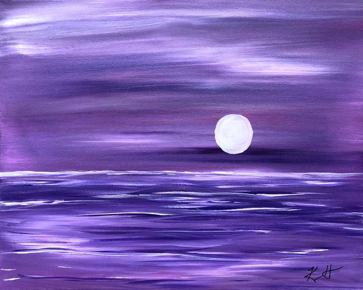 Purple Moon - The AM Art Gallery