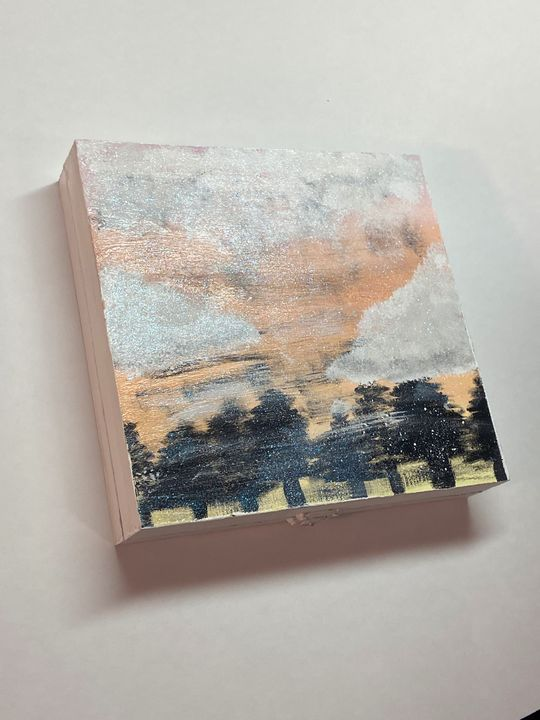 Painted Wooden Box (Foggy Forrest) - Lexi Studios