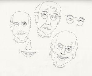 Studies in Larry Davids Face