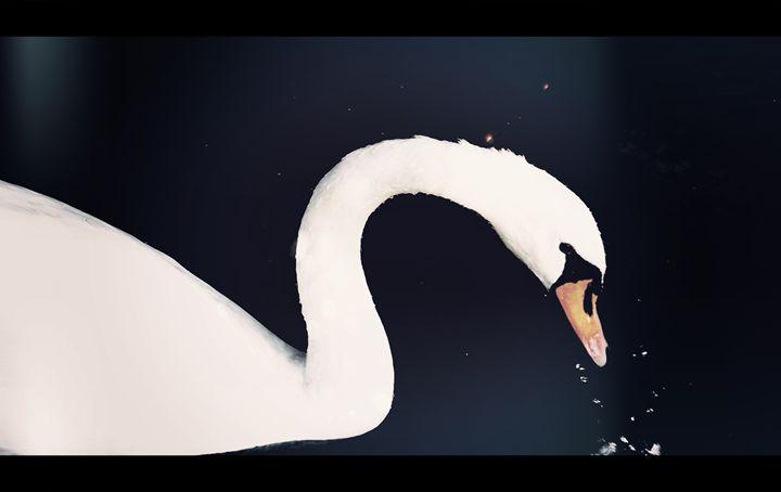 White Swan - Digital Art 91