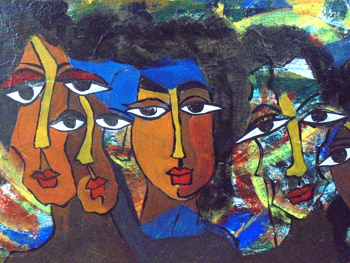 contemporary faces - prakriti art
