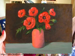 Oil painting Poppies
