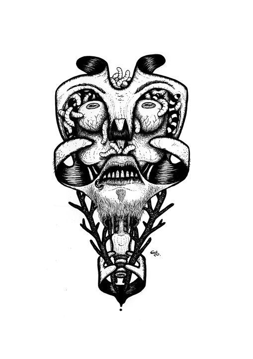 open skull - erto arts
