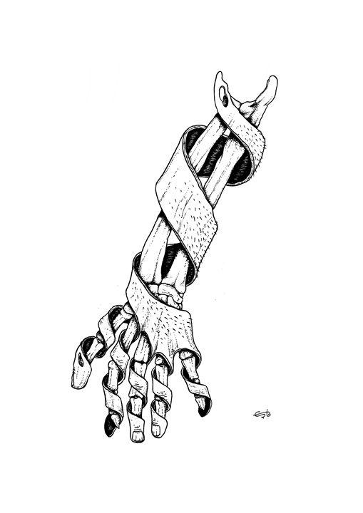 arm, hand and bones - erto arts