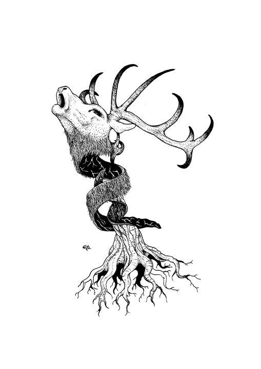 deer and trunk - erto arts