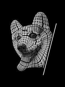 Creative Good Boy Dog Typography Art