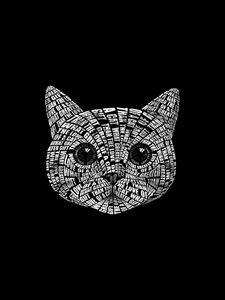 Creative Cat Typography Art Quote