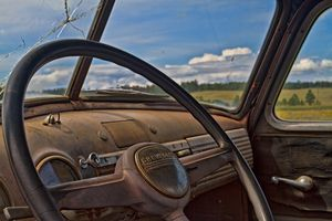 Vintage Chevy Dashboard