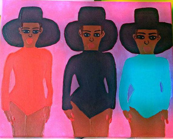 Handmade Fashion Painting - Reyna Maria Galeriya