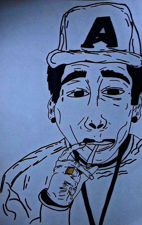 Handmade Illustration (Wiz Khalifa) - Reyna Maria Galeriya