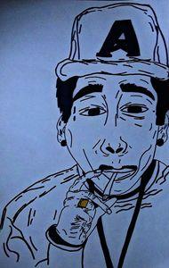 Handmade Illustration (Wiz Khalifa)