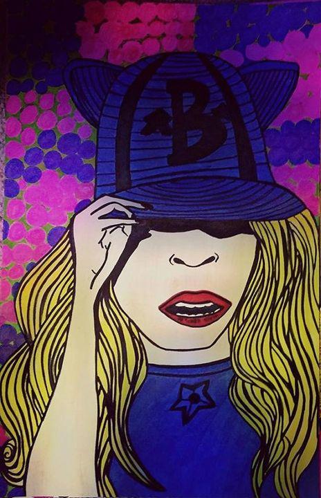 Handmade Illustration (Beyonce) - Reyna Maria Galeriya