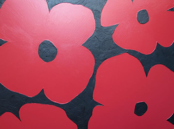 Red Poppies - Textured Art Gallery