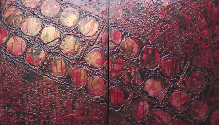 Metallic Red #167 - Textured Art Gallery