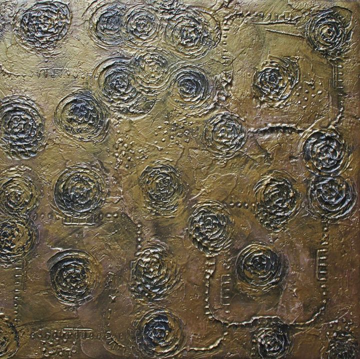 Pinto Gold #355 - Textured Art Gallery