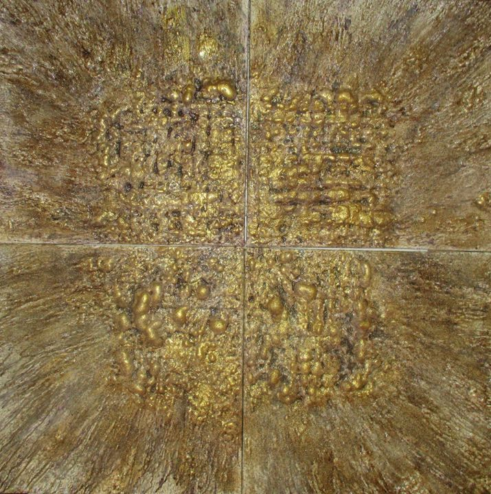 Gold Burst - Textured Art Gallery