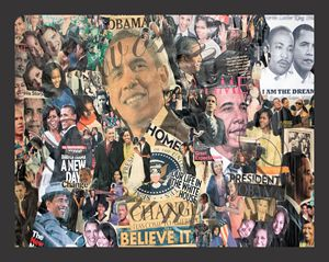 24x36 44th President Collage Moments