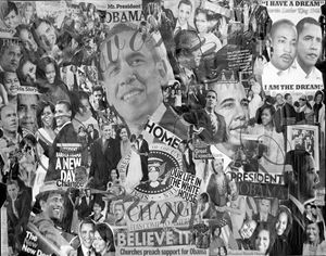 16x20 44th President Collage Moments