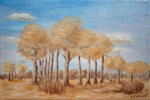Oilpainting - Landscape with trees
