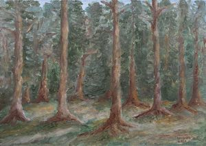 Oilpainting - Pine forest