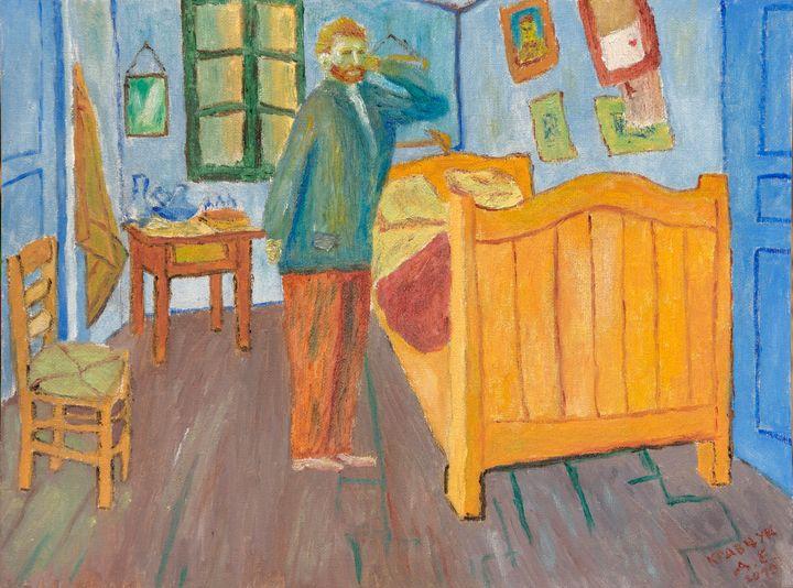 Van Gogh and Banksy`s picture - KravchukArt