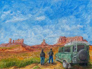 Oil painting - Adventure trip