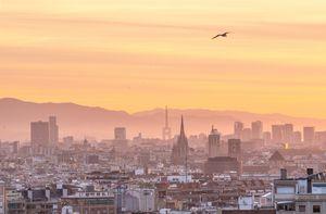 Barcelona sunrise during lockdown