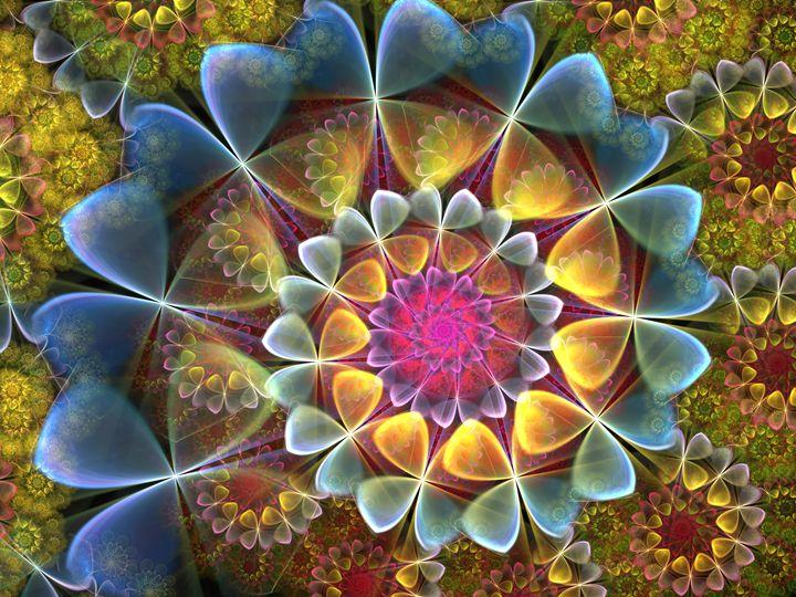Hearts of Blue- Missing Yo - World of Fractals by Amorina Ashton