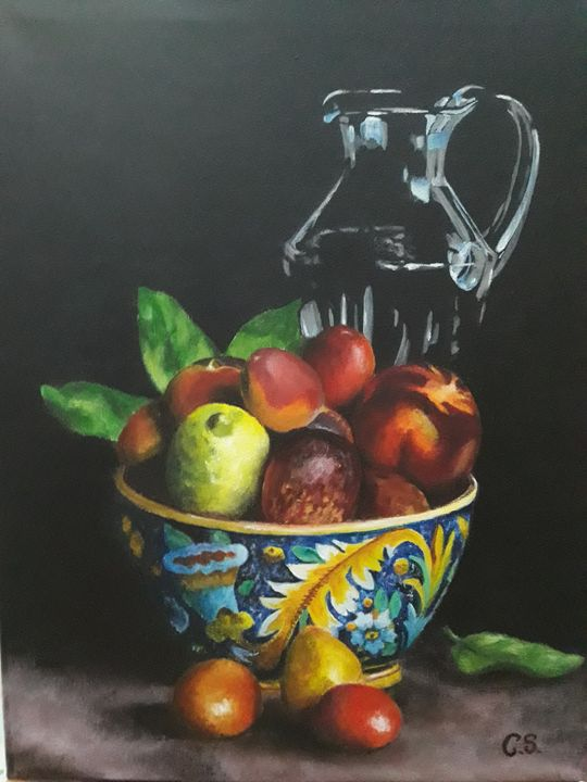 Lemon with fruits and carafe - Cris Paint
