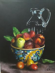 Lemon with fruits and carafe