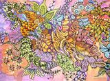 Cold batik (painting on silk)