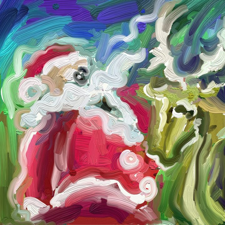 santa and deer - Gandoz