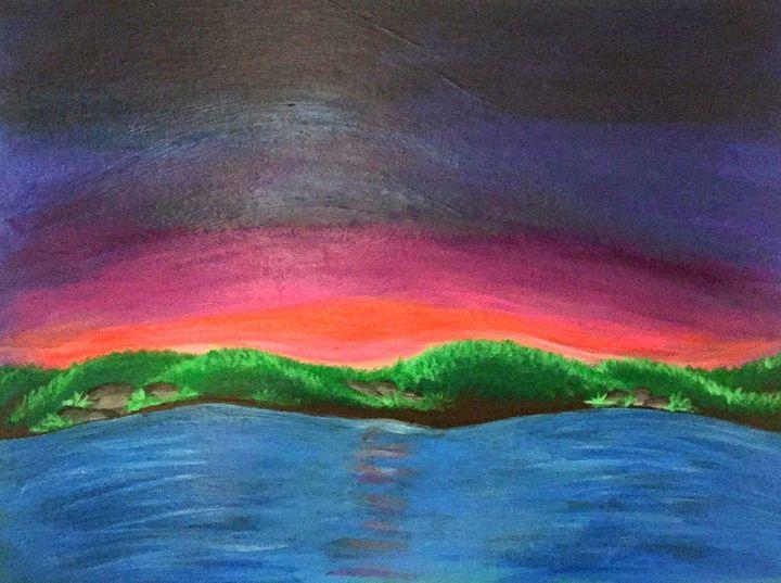 Lakeside at sunset - Pamalot