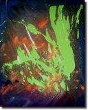 Abstract Neon Painting