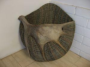 Moose antler basket
